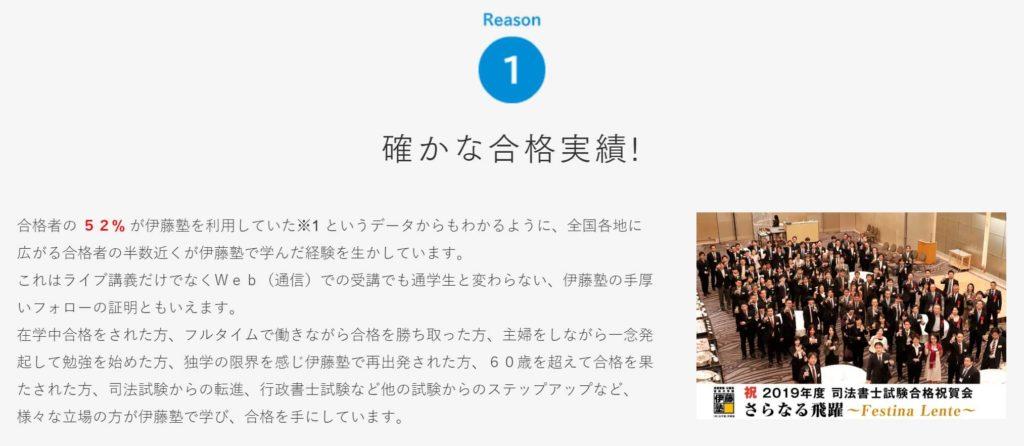 伊藤塾の合格実績